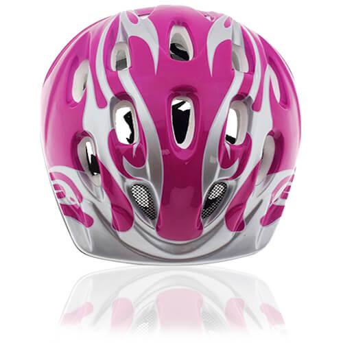 Blush Bird Kids Helmet LH214 front for child skater, roller, scooter, skateboard, longboard, balance bike and bike sport safe accessory