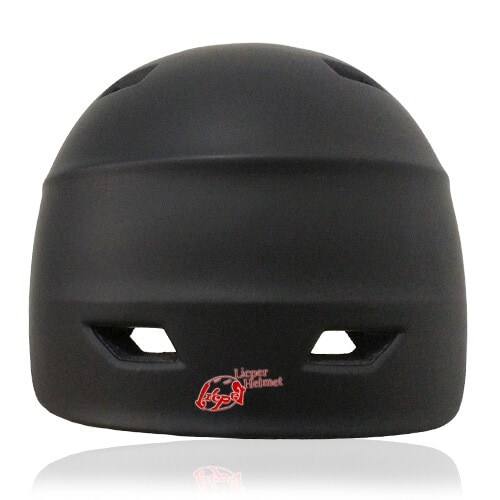 Circle Pansy Skate Helmet LH036 Black back for adults scooter, freestyle roller skater, inline skater and skateboarder safe accessory tools