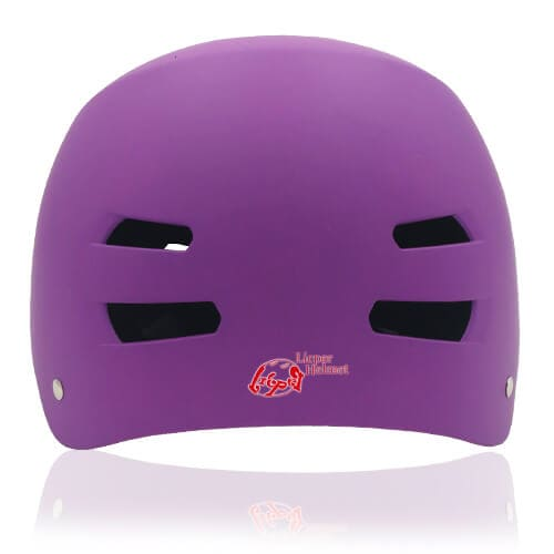 Diamond Daisy Skate Helmet LH513 Purple back for adult roller, scooter, skateboarder, inline skater, bike and balance bike safe accessory tools