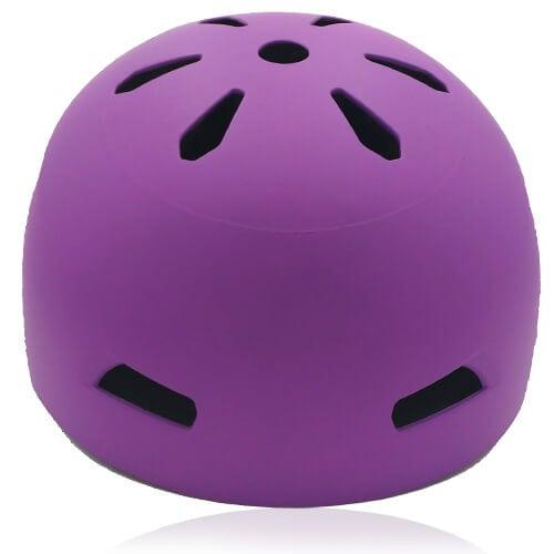 Diamond Daisy Skate Helmet LH513 Purple front for adult roller, scooter, skateboarder, inline skater, bike and balance bike safe accessory tools