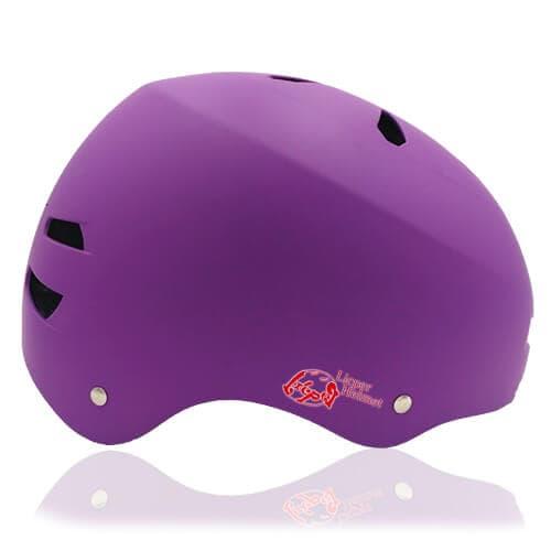 Diamond Daisy Skate Helmet LH513 Purple side for adult roller, scooter, skateboarder, inline skater, bike and balance bike safe accessory tools