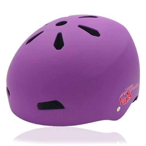 Diamond Daisy Skate Helmet LH513 Purple for adult roller, scooter, skateboarder, inline skater, bike and balance bike safe accessory tools