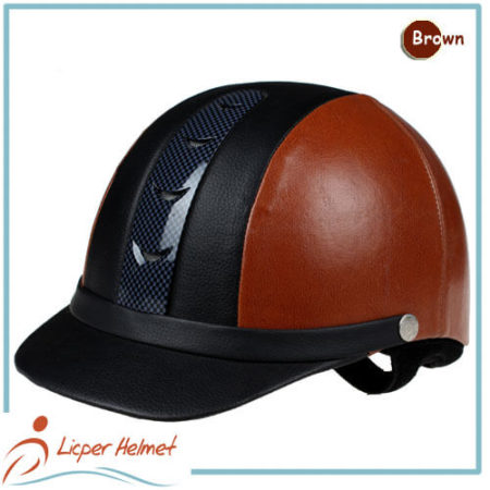 PU Leather Horse Riding Helmet LH-LY26 brown for adults horse riding protective tools safety accessories