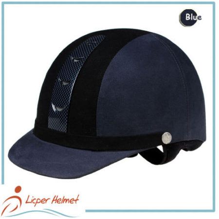 Fiber Coated ABS Out Shell Horse Riding Helmet LH-LY28 blue for horse riding protective tools safety accessories