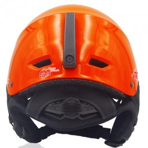 Kind Kiwi Ski Helmet LH038A Orange back for adults skiing, snowboarding, ski racing and snow skate safety and warm accessory tools