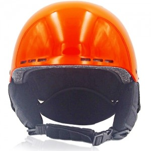 Kind Kiwi Ski Helmet LH038A Orange front for adults skiing, snowboarding, ski racing and snow skate safety and warm accessory tools