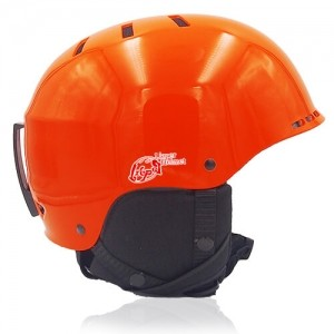 Kind Kiwi Ski Helmet LH038A Orange side for adults skiing, snowboarding, ski racing and snow skate safety and warm accessory tools
