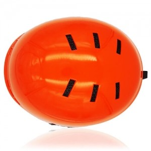 Kind Kiwi Ski Helmet LH038A Orange top for adults skiing, snowboarding, ski racing and snow skate safety and warm accessory tools