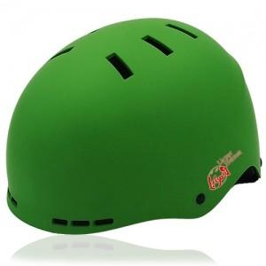 Prism Kale Skate Helmet LH038 Green for adult scooter, roller, inline skater, skateboarder, long boarder and balance bike rider safe accessory tools