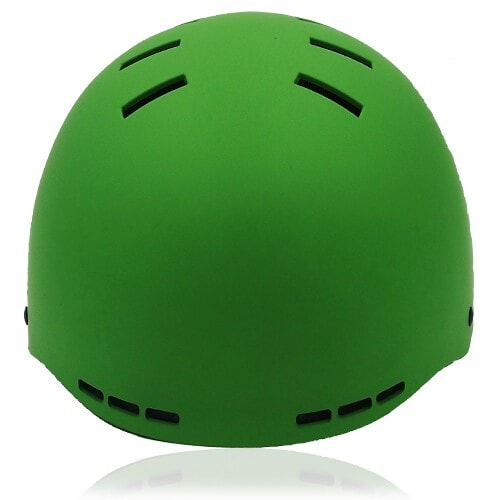 Prism Kale Skate Helmet LH038 Green front for adult scooter, roller, inline skater, skateboarder, long boarder and balance bike rider safe accessory tools