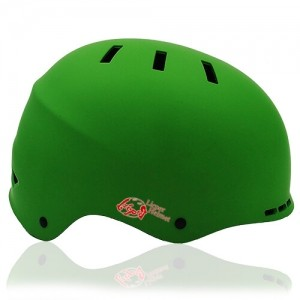 Prism Kale Skate Helmet LH038 Green side for adult scooter, roller, inline skater, skateboarder, long boarder and balance bike rider safe accessory tools