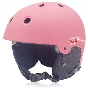 Rosy Rye Ski Helmet LH230A Pink for adults skiing, snowboarding, ski racing and snow skate safety and warm accessory tools