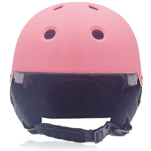 Rosy Rye Ski Helmet LH230A Pink front for adults skiing, snowboarding, ski racing and snow skate safety and warm accessory tools