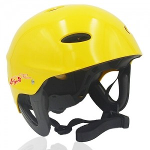 Sir Panda Water-sport helmet LH037W yellow for kids kayak, raft and water skate sport protective safe accessory tools