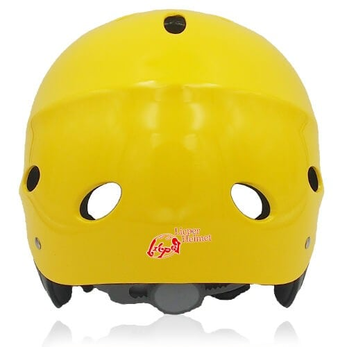 Sir Panda Water-sport helmet LH037W yellow back for kids kayak, raft and water skate sport protective safe accessory tools