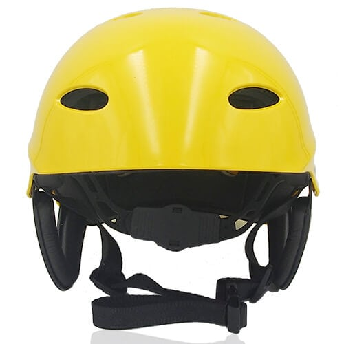 Sir Panda Water-sport helmet LH037W yellow front for kids kayak, raft and water skate sport protective safe accessory tools
