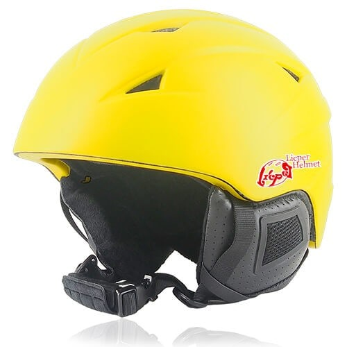 Wise Willow Ski Helmet LH508A Yellow for adults skiing, snowboarding, ski racing and snow skate safety and warm accessory tools