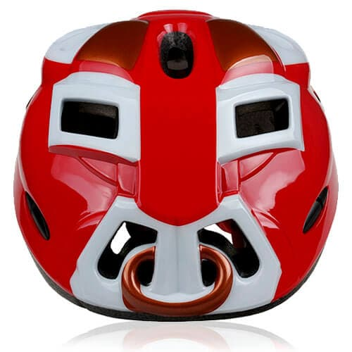 Kids Helmet - Orange Ox: 3D Children bike, skate & balance bike safe