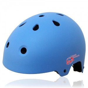 Round Rose Skate Helmet LH230 Blue for adults and kids scooter, roller, inline skater, skateboard and balance bike sport protective gear