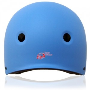 Round Rose Skate Helmet LH230 Blue back for adults and kids scooter, roller, inline skater, skateboard and balance bike sport protective gear