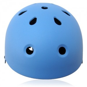 Round Rose Skate Helmet LH230 Blue front for adults and kids scooter, roller, inline skater, skateboard and balance bike sport protective gear