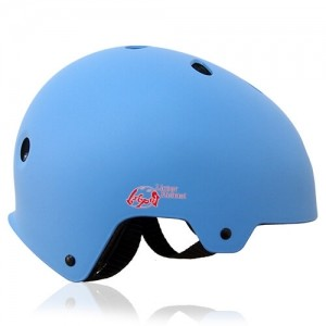 Round Rose Skate Helmet LH230 Blue side for adults and kids scooter, roller, inline skater, skateboard and balance bike sport protective gear