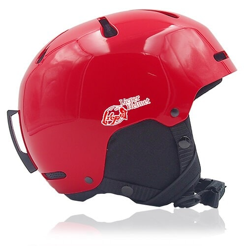 Sweet Shrub Ski Helmet LH033A red side for kids skier, children snowboarder and snow skate beginner safe gear