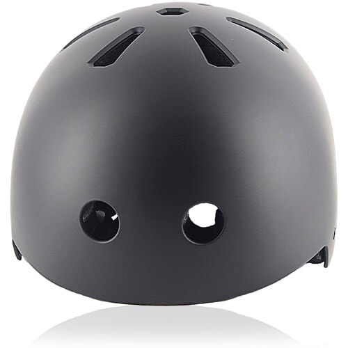 Cube Cactus Skate Helmet LH519 black front for adult skater, skateboarder, inline player, roller and scooter safe accessory tools